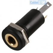 3.5mm Mini Stereo Jack Chassis Panel Mount Headphone Input Socket Connector