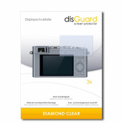 3 x disGuard Diamond Clear Screen Protector for Leica D-Lux (Typ 109) / Dlux - PREMIUM QUALITY