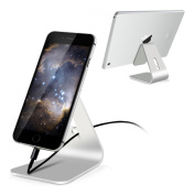 kwmobile Mobile smartphone tablet stand foot holder for Smartphone / Tablet - Aluminium universal mobile phone mount tablet table stand station