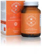 Organic Ashwagandha Veggie Capsules   Certified Organic by Soil Association   100% Natural Herbal Supplement   Ayurveda Formula known as Withania Somnifera   KSM-66   KSM66   60 Easy Swallow Pills