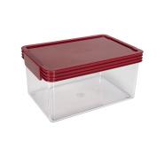 Click Clack Essentials Storage Container Red 1.9L