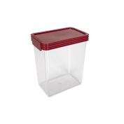 Click Clack Essentials Storage Container Red 2.4L