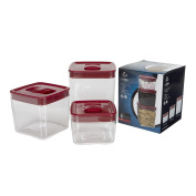 Click Clack Space Cube Canister Red Set of 3