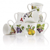 Pipa's Fruits Bone China Coffee Mug Assorted Designs