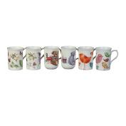 Rose of England Series 1 Bone China Coffee Mug 330ml Assorted Designs