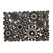 Jason Felt Black Floral Placemat 30x45cm