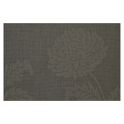 Jason PVC Black Chrysanthemum Placemat