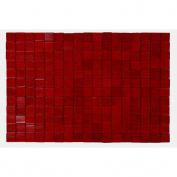 Kitchen Worx Bamboo Checkers Red Placemat 30x45cm