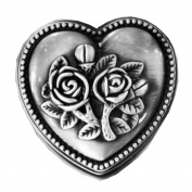 [Rose in Heart] Ring Box Alloys Jewellery Box Ring Display Box,5cm by 2.8cm