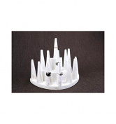 Solid Wood White Painted Ring/Ring Display Cones