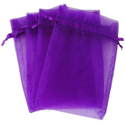 Butterme 100 Pcs Organza Wedding Party Favours Bags Satin Drawstring Jewellery Pouches 10cm x 15cm Inch