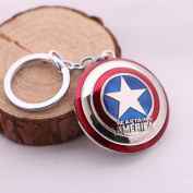 Captain America Shield Pewter Key Ring Keychain Replacement