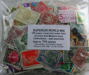 Superior Worldwide stamp Mix, off paper used and some mint