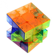 Magical 3 x 3 x 3 Speed Transparent Crystal Magic Cube Game Twist Puzzle Toy