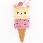 Korilakkuma ice cream squishy cellphone charm