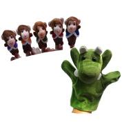 Pinkyee The Nursery Rhyme Finger Puppets for Five Little Monkeys Swing In A Tree
