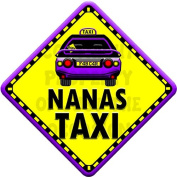NANAS TAXI Baby on Board Car Window Sign