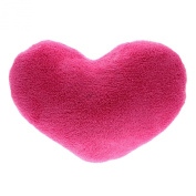 Soft Love Heart Shape Fluffy Pillows Cushions Block Gifts Sofa Decoration Hot Pink