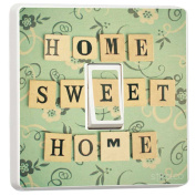 Home Sweet Home Light Switch Sticker vinyl cover skin decal by stika.co