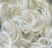 60cm ONE PIECE Clip In Hair Extension WAVY CURLY White Blonde #60M 1pc 5 Clips