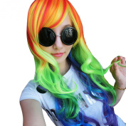 Women Girl My Little Pony Rainbow Dash Multi Colour Heat Resistant Anime Cosplay Party Wig