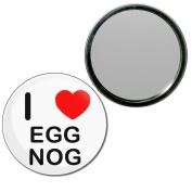 I Love Egg Nog - 77mm Round Compact Mirror