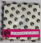 50cm x 30cm inch Vinyl Record Album LP Poly Lined White Paper Inner Sleeves 450 gauge