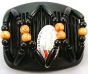 African Butterfly hair clip Beada 3036 11cm Black comb