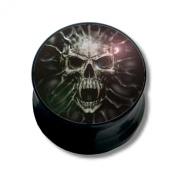 Ear Plug Piercing, Body Jewellery, Ghost Skull | 6 - 16 mm
