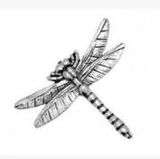 Gift Boxed Pewter- Dragonfly Badge pin or Brooch Gift for Scarf, Tie, Hat, Coat or Bag