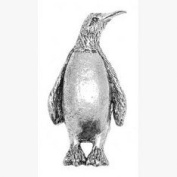 Pewter Penguin Pin Badge or Brooch Gift for Scarf, Tie, Hat, Coat or Bag