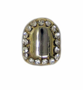Best Grillz Single Grillz Edge Of Ice Hiphop Bling 24k Gold Plated Tooth Clip