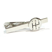 Gear Stick Tie Clip - Rhodium Plated - Gift boxed