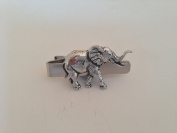 A20 Elephant English Pewter emblem on a Tie Clip 4cm Handmade in sheffield comes with PrideInDetails gift box