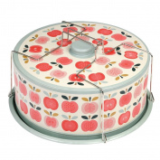 dotcomgiftshop Vintage Apple Cake Carrier Container
