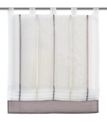 "Home fashion 79187-860 Roman Blind with Loops 150 x 120 cm ""Gabi"" Transparent / Stone"