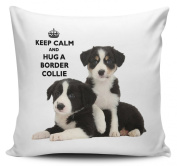 Keep Calm And Hug A Border Collie Cushion Cover