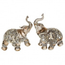 Small Silver Decorative Buddha Elephant Ornament