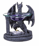 Stone Effect Dragon Figurine Oil Burner Guaranteed Christmas Delivery UK Mainland