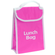 PINK KIDS OFFICE THERMAL INSULATED COOLER LUNCH BAG HOT COLD FOOD PORTABLE SCHOOL