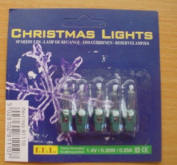 Pack of 5 Clear Push In Spare Fairy Bulbs 1.4v 0.35w 0.25a