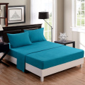 [hachette] 50:50 POLY COTTON RICH QUALITY PERCALE FITTED SHEET TEAL - SUPER KING BED SIZE