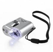 HuntGold 60X Microscope Jade Jewellery Appraisal Loupe Mini Magnifier With LED UV Light
