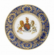 George III Painted Tin Enamel Plate - Picnic or Camping