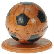 Football 3D Wooden Puzzle + Free Keyring : Fun Novelty Christmas Present : Brain Teaser Gift Idea : Jigsaw : Ornament : Gifts for Children, Kids, Boys, Men, Adults : Size H 10.5 x W 13.5 x D 9.5cm