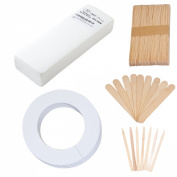 JMT Beauty 100 Large Waxing Strips, 60 Large wooden sticks, 60 Extra small wooden sticks, 30 Disposable Collars