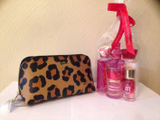 Bath and Body Works Be Joyful 4pc Travel Set inside of a Beautiful Coach Cosmetic Case