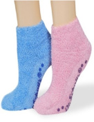 Dr. Scholl's socks Spa Collection blue & pink with grippers