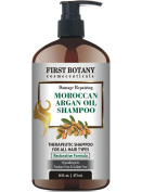 Morroccan Argan Oil Shampoo with Restorative Formula 470ml Gentle & Sulphate Free for All Hair Types. Cleanses, Revives, Hydrates, Detangles Hair & Revitalises the Scalp & Split-Ends