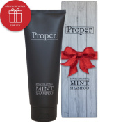Mens Shampoo with Invigorating Tea Tree and Peppermint Oil - Salon Quality Care From Proper Hair Products - Infused with Oils to Help Alleviate Dandruff, Dry and Itchy Scalp and Hair Loss or Thinning Hair